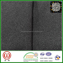 100% Polyester Fabric heavy weight interfacing 95g basic fabric and 20g glue woven interlining fusible for clothes