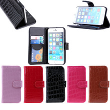Genuine crocodile leather wallet phone case for iphone 6