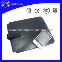 black smart wallet cow split leather computer tool kit bag
