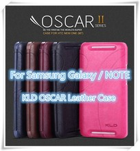 Luxury KLD OSCAR Synthetic Leather Ultra thin Card Slot Flip wallet Case Skin Cover for samsung galaxy S4 S5 S6 / NOTE series