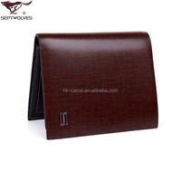 China famous brand custom top grain men genuine leather wallet
