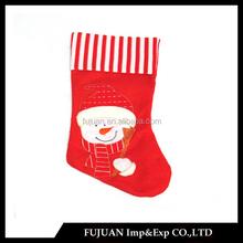 Popular strip design christmas stocking sock for decor