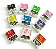 Promotion cheap laptop floating charms wholesale