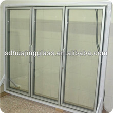 Chilled/cold fresh food/beef/ fresh duck supermarket commercial display frezeer glass door