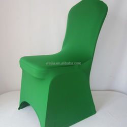 WELCC1 WELJIA Spandex Green Chair Cover For Banquet Chairs