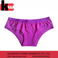 Pure Pink Color Cotton kids Underwear Young Girl Panty with Flexible Elastic