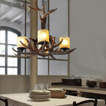 china supplier christmas decoration David Hunter antler resin and metal pendant lighting