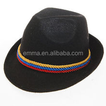 2015 best selling adult unisex beer hat carnival fancy oktoberfest with colour rope HT5512