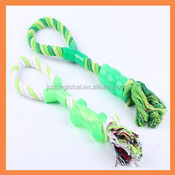 Pet chew toy rope with bone