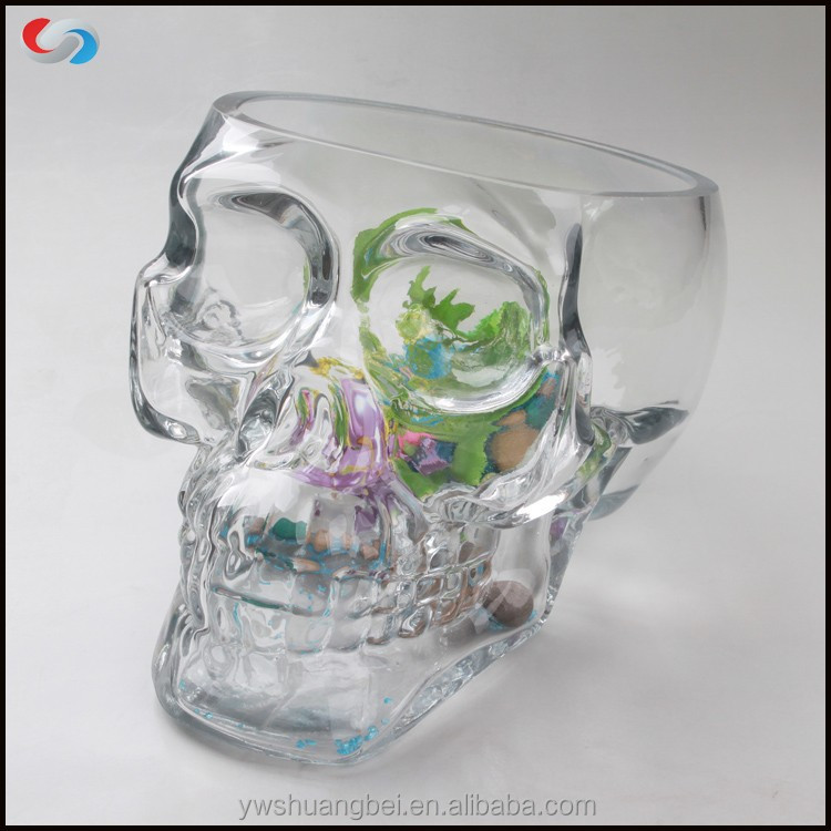 Skull Head Fish Farming Tank Glass Fish Bowl,Aquarium Tank - Buy Tank ...