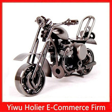 2015 hot sale iron plated handmade rotatable motorcycle model