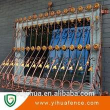 decorativo de alta calidad de hierro forjado rejas