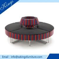 High Quality Graceful Fabric Oval Sofa