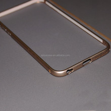 Aluminum frame bumper and tempered glass case for iphone6/6plus
