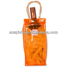 clear plastic bag/clear tote bags/clear wine cooler plastic bag