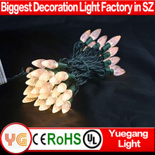 UL approved voltage warm white 110V or 220V 10M 70 leds c6 C7 c9 led bulb