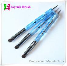 Two Side Use French Nail Kolinsky Brush Dotting Tool Nail Art Pen Kit