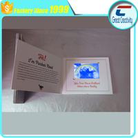 Custom printing hot sex hd lcd mp4 player video greeting card/2.3 inch digital custom video greeting card