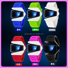 Colorful smart plane silicone LED wrist watch