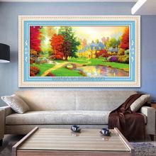 Diamond oil painting landscape on canvas decorative diamond painting factory supplier