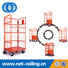Industrial storage three side roll container