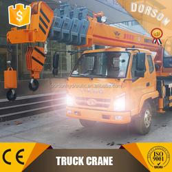SHANDONG truck crane manufacturer/professional 8 ton truck crane factory
