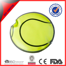green color basketball shape Rehabilitation Therapy Supplies gel reusable hand warmer with coin for Merry christmas