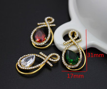 Fashion Brand Jewelry 3 Color Zircon Stone Crystal Amethyst Druzy Quartz Necklace Pendant