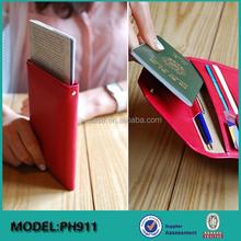 Newest design !Super Slim Leather with RFID Blocking Credit card Passport Wallet