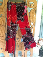 wholesale beautiful floral design palazzo pants material