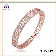 China Popular Fashion Fake Gold Adjustable Bracelet Alloy Bangle Wholesale