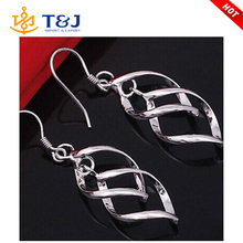 Top Grade Hollywood Star Ziyi Zhang Jewelry Very Shine Electroplate Stud Earrings for Women Jewelry