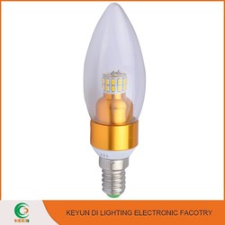 Ultra bright LED Lighting For Crystal Lamp E14 E27 B22 3W led candle lamp