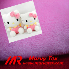 100% polyester warp knitted super soft velboa fabric for making soft toys
