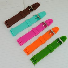 12mm 17mm 19MM Silicone Rubber Watch Band Strap Fits S540