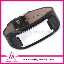 New Product Watch Style Bio Magnetic Leather Bracelet For Men