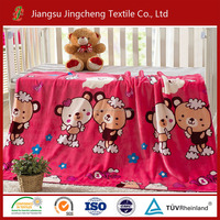100% polyester flannel blanket printed for baby blanket factory China JCBL04061