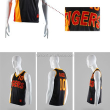 Customized basketball jersey and shorts team wear design