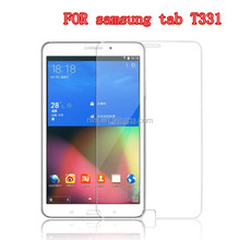Top quality 9H anti-shock Tablet screen guard for samsung tab T331 tempered glass screen protector