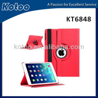 360 degree rotating PU leather cover for ipad air