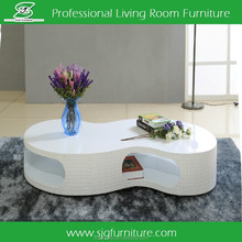 High Glossy Coffee Table Modern Wood Coffee Table
