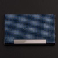 Alibaba China Supplier Eco-friendly Leather Metal Name Card Case