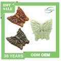 produits en porcelaine sculpté vert jade pendentif bijoux en gros charmes pendentif papillon pendentif charme