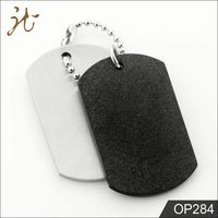 100% Authentic Material Black Tag Pendant Necklace For Man