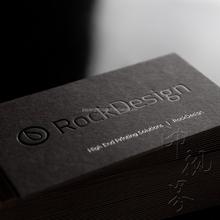 black foil letterpress business cards print