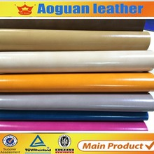 2015 factory price newest design patent fabric pu leather for shoes material