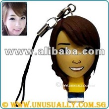 PERSONALIZED CARTOON FEEL PHONE DANGLER MINI DOLL THAT CUSTOM TO LOOK LIKE YOU
