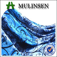 Mulinsen Textile 2015 New Design Single Jersey Polyester Spandex Knitting Print Fabric Latest Dress Patterns for Girls