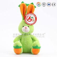 Cute plush green rabbit & white bunny toys & plush easter bunny