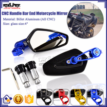 BJ-RM-061B For Motorcycle Yamaha R1 CNC Aluminum Motorcycle Bar End Mirror